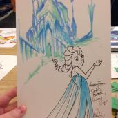 Elsa with her castle